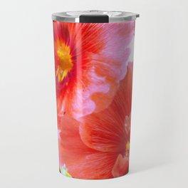Hibiscus vintage classic / rose Travel Mug