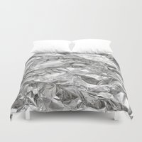 silver Duvet Covers featuring Silver by Roscoe