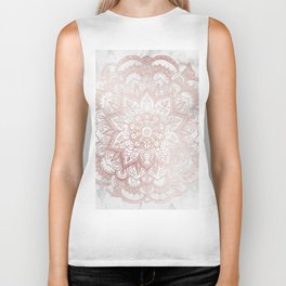 Rose Gold Mandala Star Biker Tank