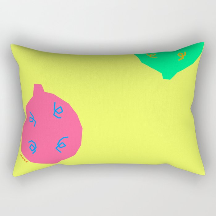 Words from Colorful Lemons - fruit illustration bright colors Rectangular Pillow