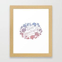 Love yourself color Framed Art Print