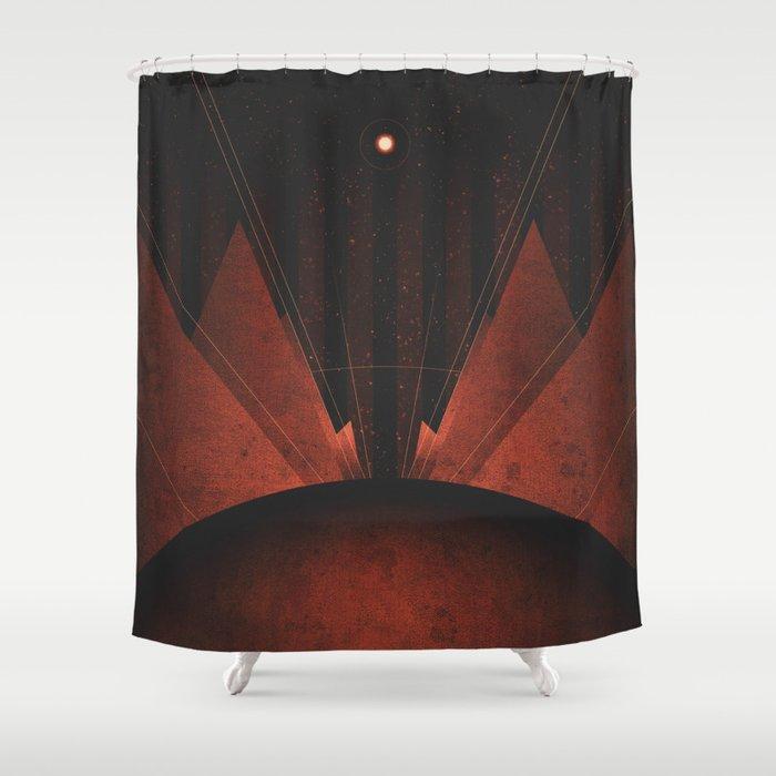 Triton - The Polar Caps Shower Curtain