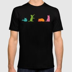 Cats Multicolor Mens Fitted Tee 2X-LARGE Black