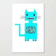 Robot Cat Canvas Print