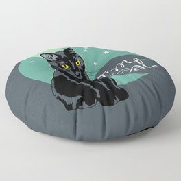 Good night Cat! Floor Pillow