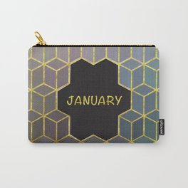 Cubes Of January Carry-All Pouch