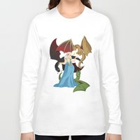 mother of dragons Long Sleeve T-shirts featuring Mother of Dragons by Danielle Gransaull