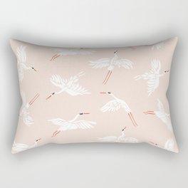 Crane Dance Rectangular Pillow