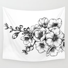 Japanese Quince Wall Tapestry
