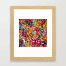 boxes of containers of jars of bags Framed Art Print