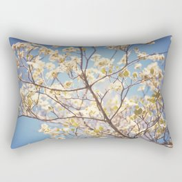 Dogwood Tree - Spring Flowering Tree Photography Rectangular Pillow