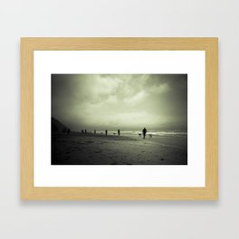 Zombie Apocalypse: The Beach Framed Art Print