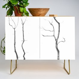 Reaching up Credenza