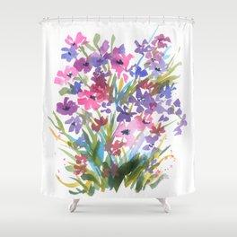 Lavender Mini Fleurs Shower Curtain
