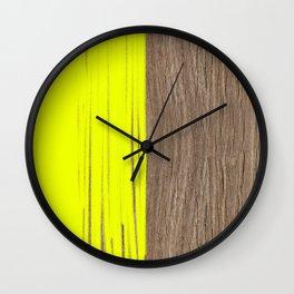 wood colored yellow Wall Clock
