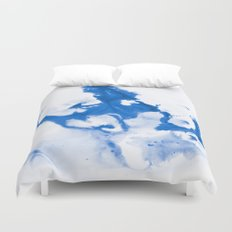 Paint 3 abstract modern art wall art for college dorm school trendy painting brushstrokes water wave Duvet Cover