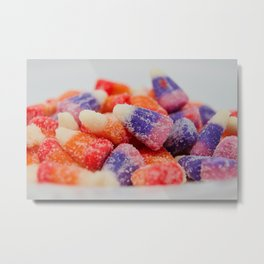 Sweet and sour flavored candy Metal Print