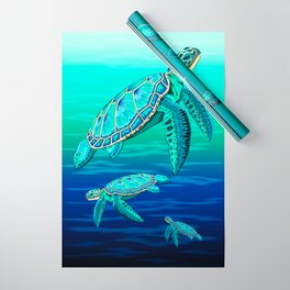 Sea Turtle Turquoise Oceanlife Wrapping Paper