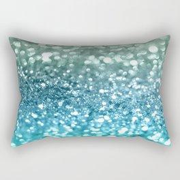 Seafoam Aqua Ocean MERMAID Girls Glitter #4 #shiny #decor #art #society6 Rectangular Pillow