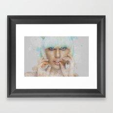 The Lady Framed Art Print