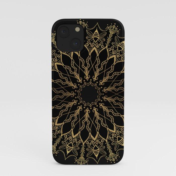 Golden Bee Mandala iPhone Case