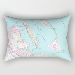 Vintage Map of Port St Lucie Inlet (1948) Rectangular Pillow