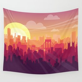 Brooklyn Sunset Wall Tapestry