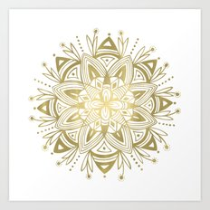 Mandala - Gold Art Print