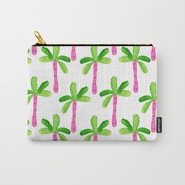 Watercolor Palm Trees in Pink Carry-All Pouch