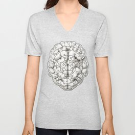Puzzle brain GINGER / Your brain on puzzles Unisex V-Neck