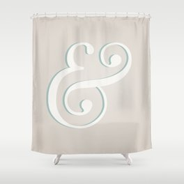 Ampersand-licious Shower Curtain