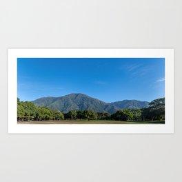 Ávila decembrino desde Parque del Este Art Print