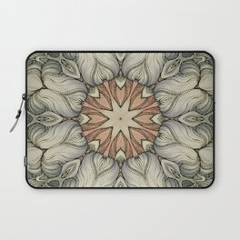 abstract flowers hand drawn and  kaleidoscope mandala Laptop Sleeve