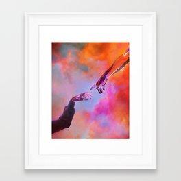 La Création d'Adam - Dorian Legret x AEFORIA Framed Art Print