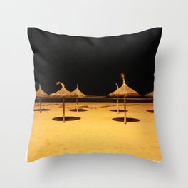 Shades in the Night Throw Pillow