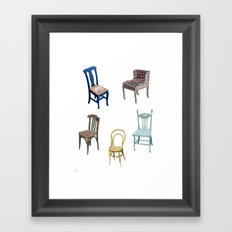 Chairs number 2 Framed Art Print