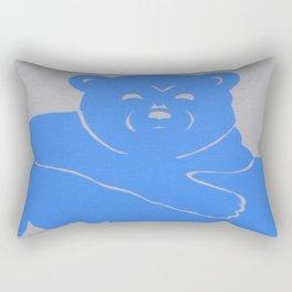 Polar Bear Screen print - Wild Veda Rectangular Pillow