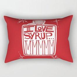 I Love Syrup Rectangular Pillow