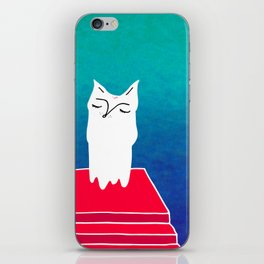 Cat on the stairs iPhone Skin