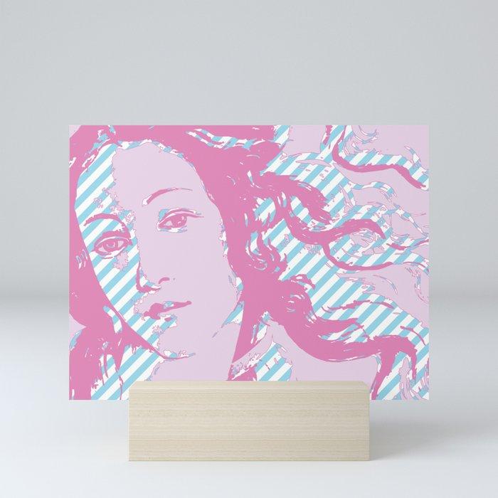 Rebirth of Venus - Pink & Cyan - Trans Pride! Mini Art Print