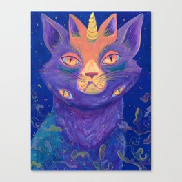 Galactic Kitties: Topaz Canvas Print