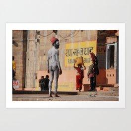 Sadu in Varanasi Art Print