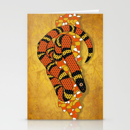 Mexican Candy Corn Snake Stationery Cards
