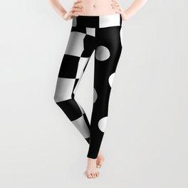 ABSTRACTISM (BLACK-WHITE) Leggings