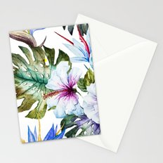 Watercolor Tropical Hibiscus Stationery Cards