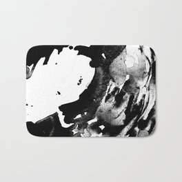 Drilling for that black gold in our oceans, black wave Bath Mat