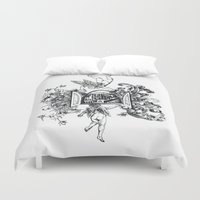 angels Duvet Covers featuring Angels by LinnaDesign