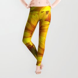 Yellow Mellow Sunflower Bouquet #decor #society6 #buyart Leggings