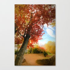 Autumn Tree Scene Canvas Print