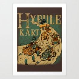 Hyrule Kart Art Print